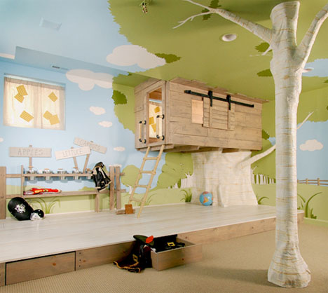 love climbing so how about this for the coolest kids' bedroom design