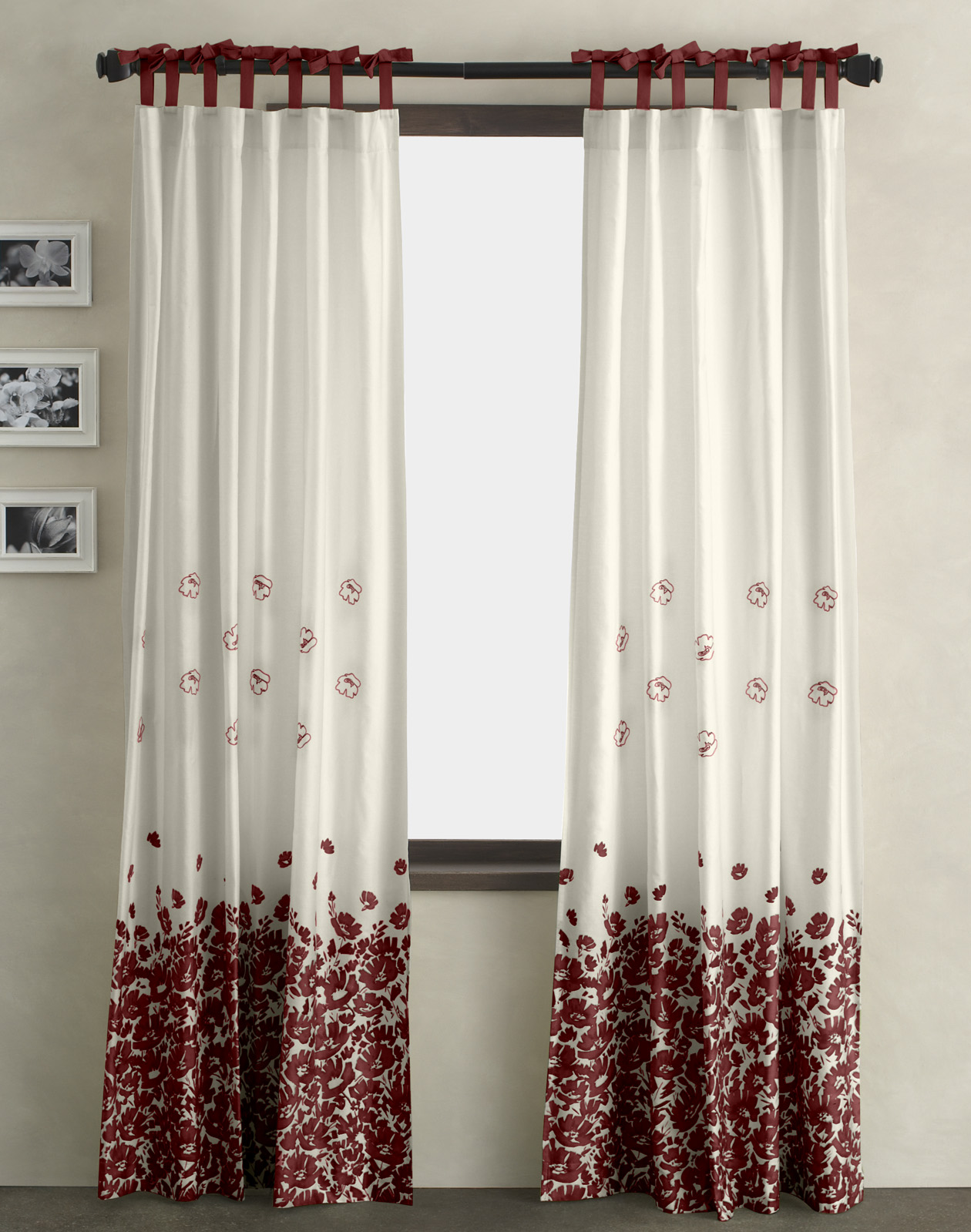 White Window With Curtains