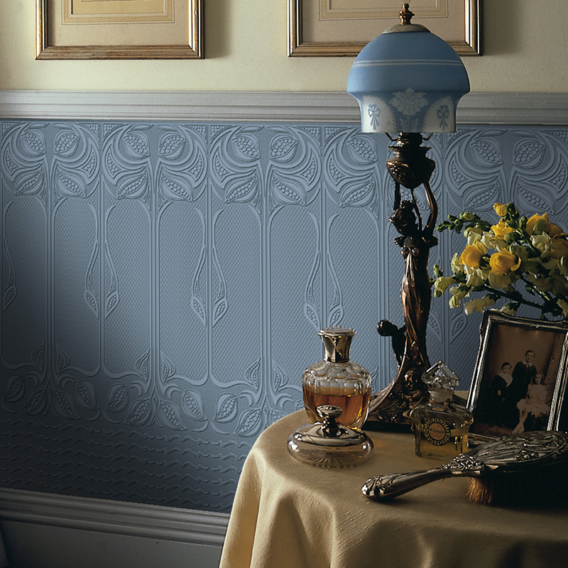 use anaglypta wallpaper to transform your home